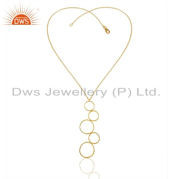Exporter Circle Design 92.5 Silver Gold Plated Pendant Jewelry Manufacturer