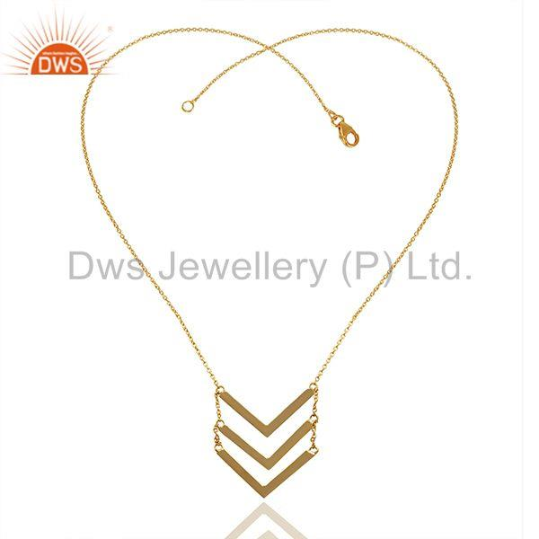 Exporter Handmade 925 Sterling Silver Gold Plated Chain Pendant Manufacturer