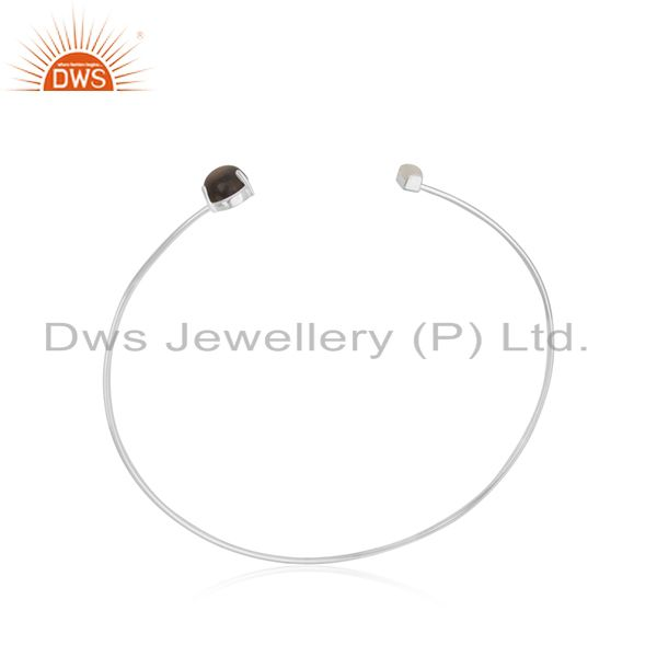 Exporter Solid 925 Sterling Silver Customized Cuff Bracelet Manufacturers
