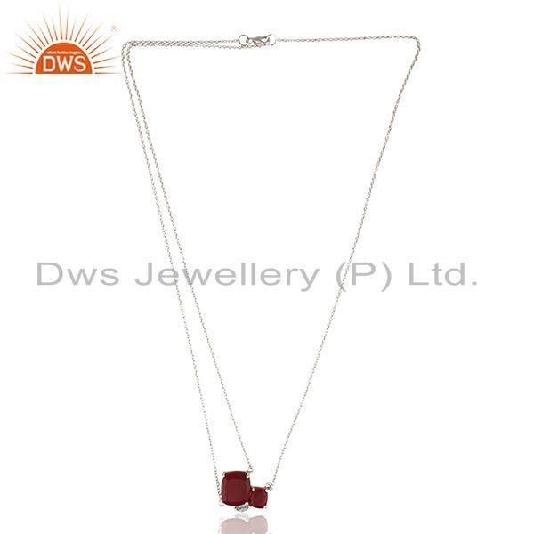 Wholesale Peridot Gemstone Sterling Silver Chain Necklace Custom Jewelry Manufacturer