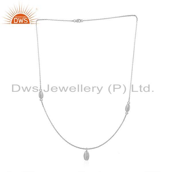 Exporter Designer 92.5 Sterling Fine Silver Chain Pendant Manufacturer Customized Jewelry