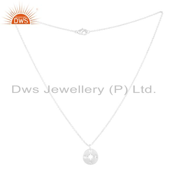Exporter Solid 925 Sterling Silver Handmade Astrology Style Chain Pendant Necklace