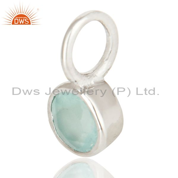 Exporter Beautiful Handmade Solid 925 Sterling Silver Dyed Chalcedony Connector Pendant