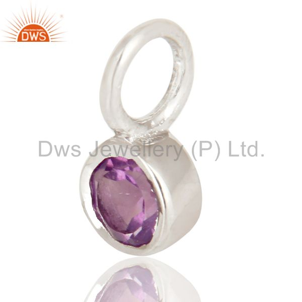 Exporter Beautiful Handmade Solid 925 Sterling Silver Amethyst Connector Pendant Jewelry