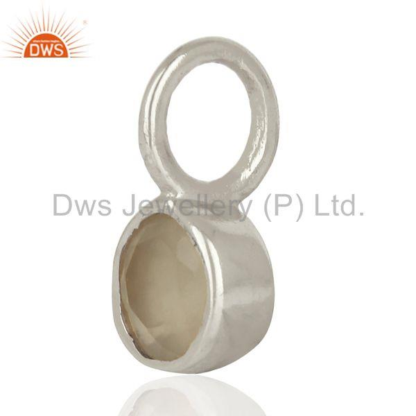 Exporter Gray Chalcedony Sterling Silver Silver Plated Connector Pendant Gemstone Jewelry