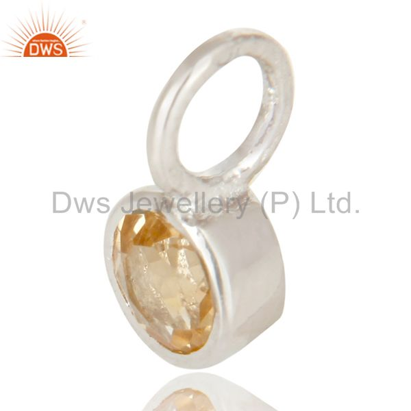 Exporter Beautiful Handmade Solid 925 Sterling Silver Citrine Connector Pendant Jewelry