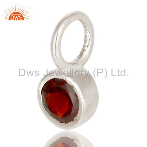 Exporter Beautiful Handmade Solid 925 Sterling Silver Garnet Connector Pendant Jewelry