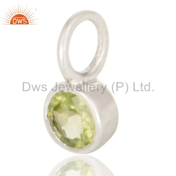 Exporter Beautiful Handmade Solid 925 Sterling Silver Peridot Connector Pendant Jewelry