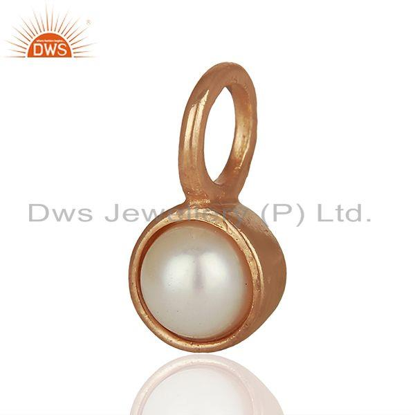 Exporter Natural Pearl Rose Gold Plated 925 Sterling Silver Pendant Supplier