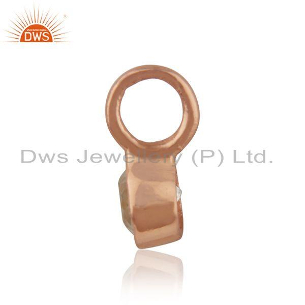 Exporter Rose Gold Plated Silver White Topaz Gemstone Pendant Jewelry