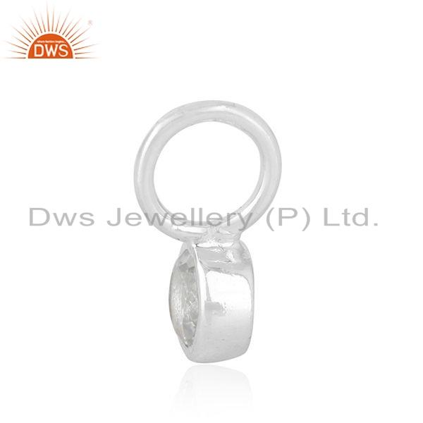 Exporter Without Chain Sterling Fine Silver White Topa Gemstone Pendant Jewelry