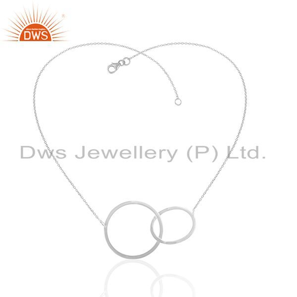 Exporter Multi Circle 925 Sterling Plain Silver Chain Pendant Manufacturers
