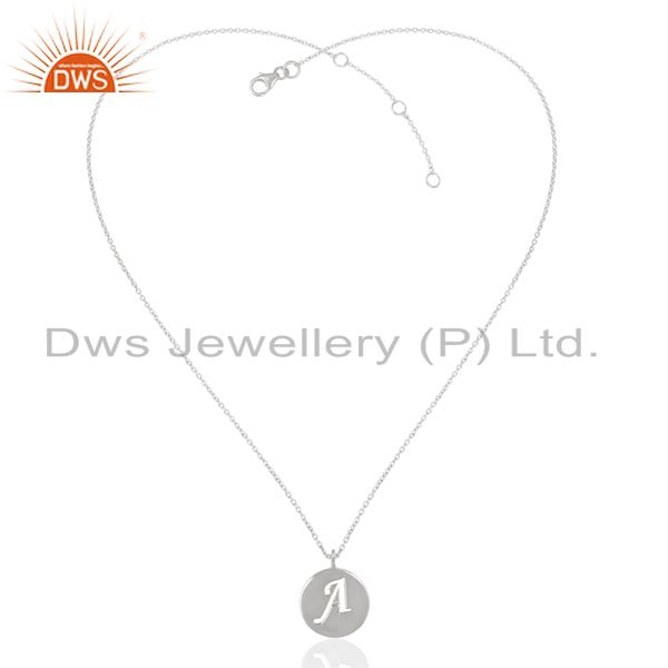Exporter Handmade Design 925 Sterling Silver A Alphabet Chain Pendant Jewelry