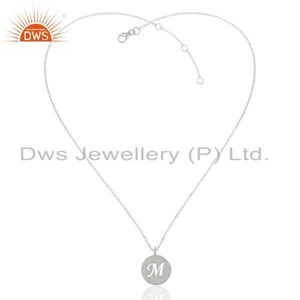 Exporter Handmade 925 Sterling Silver M Alphabet Chain Link Pendant Jewelry