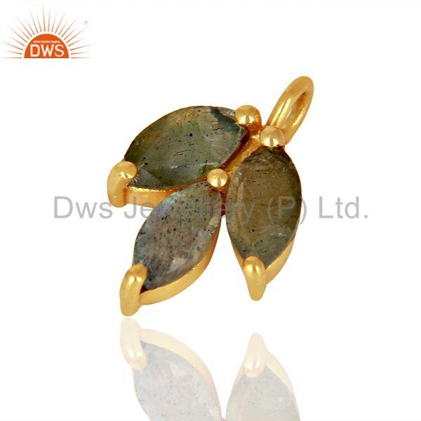 Exporter Labradorite Gemstone Gold Plated Silver Connector Jewelry Findings