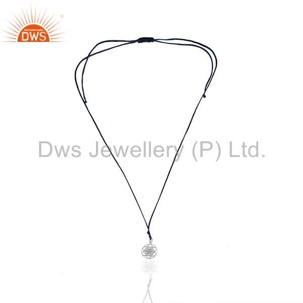 Exporter Handmade White Rhodium Plated Sterling Silver Charm Pendant Supplier