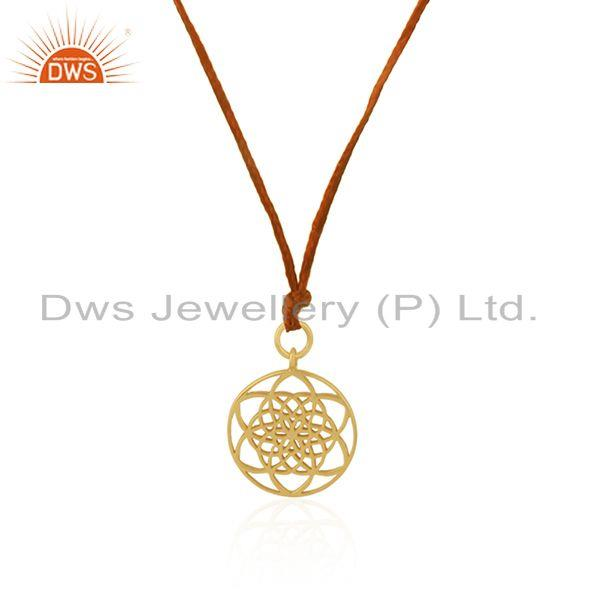 Exporter Gold Plated Sterling Silver Designer Pendant for Girl Jewelry Supplier