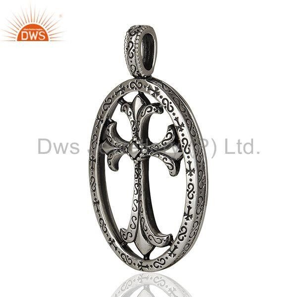 Exporter CH Cross 92.5 Sterling Silver Pendant And Necklace Jewelry