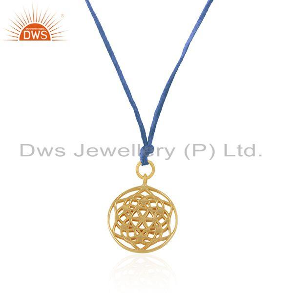 Exporter Gold Plated Sterling 925 Silver Gold Plated Designer Pendant Suppliers