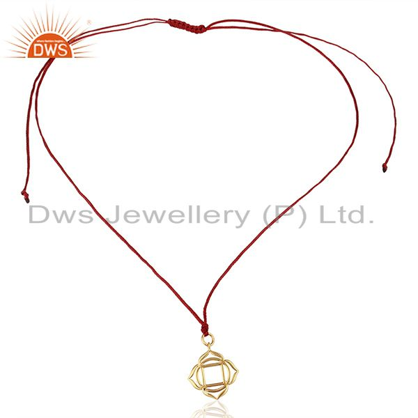 Exporter Muladhara Roots 925 Sterling Silver Silk Thread Wholesale Pendant And Necklace