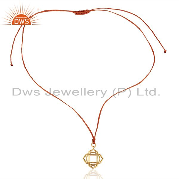 Exporter Muladhara Roots 925 Sterling Silver Orange Silk Thread Wholesale Jewelry