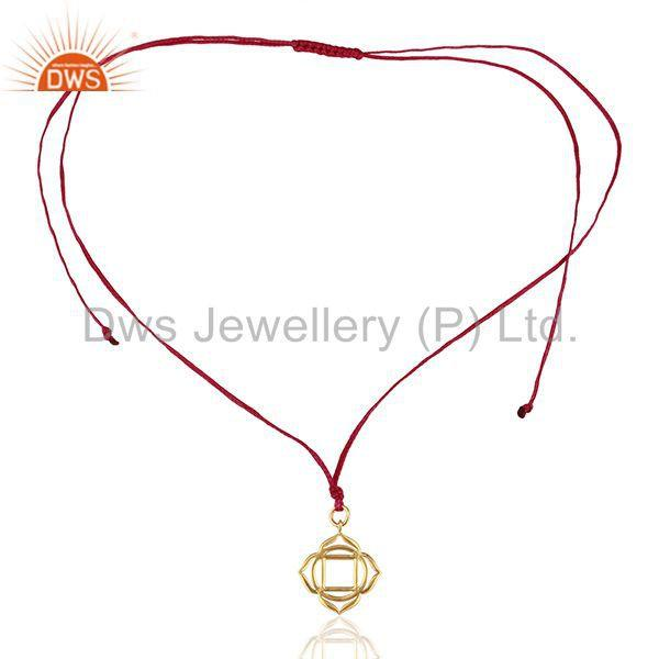 Exporter Muladhara Roots 925 Sterling Silver Pink Silk Thread Wholesale Jewelry