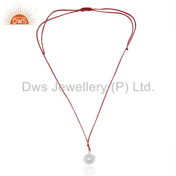 Exporter Red Cord Lucky Plain Silver Charm Pendant Jewelry Manufacturers