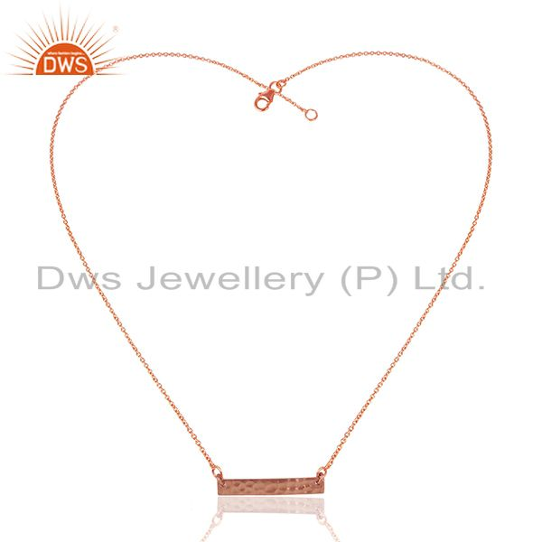Exporter Rose Gold Plated 92.5 Silver Handmade Chain Pendant Wholesale
