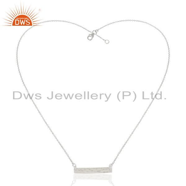 Exporter Solid 925 Sterling Silver Bar Design Pendant Jewelry Manufacturers