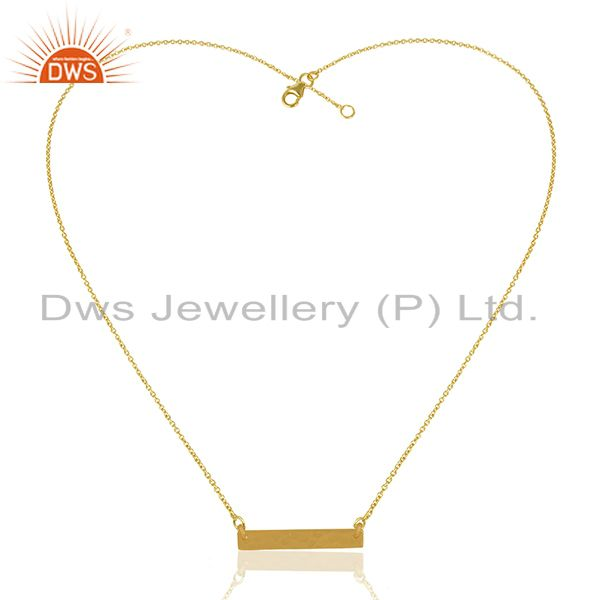 Exporter Genuine 925 Sterling Plain Silver Gold Plated Chain Pendant Wholesale
