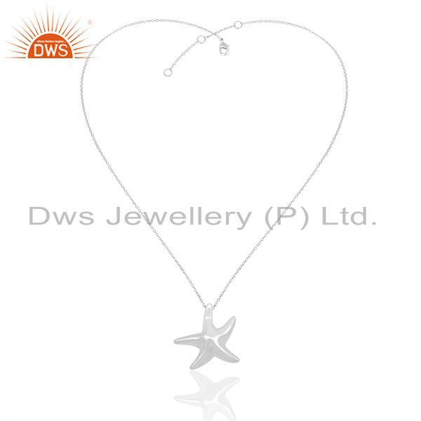 Exporter Handmade 925 Sterling Silver Lucky Star Fish Charm Pendant Manufacturers India