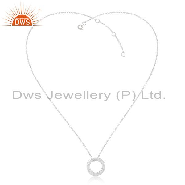 Exporter Handmade 925 Sterling Silver Designer Ring Pendant With Chain Manufacturer
