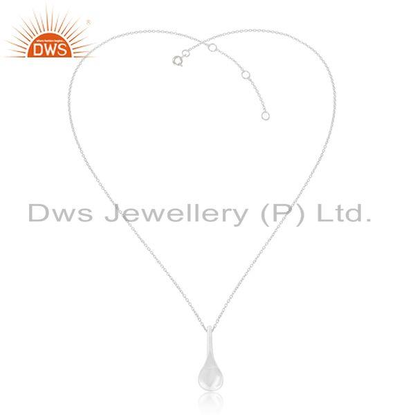 Exporter 92.5 Sterling Silver Handmade Spoon Charm Pendant Charm With Chain Manufacturer
