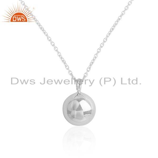 Exporter Handmade 925 Sterling Fine Silver Chain Pendant Manufacturer of Girls Jewelry