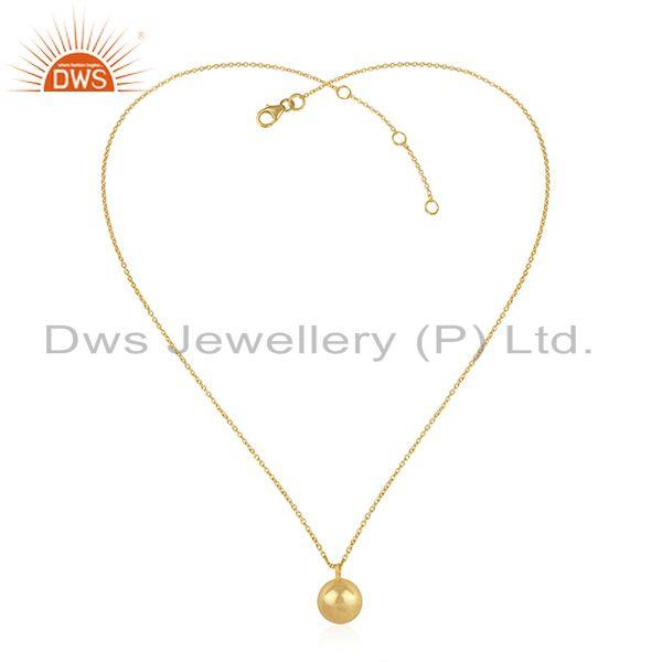 Exporter Wholesale Plain Silver Designer Gold Plated Chain Pendant Jewelry