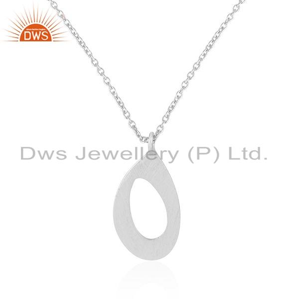 Exporter Womens 925 Sterling Silver Designer Indian Chain Pendant Jewelry