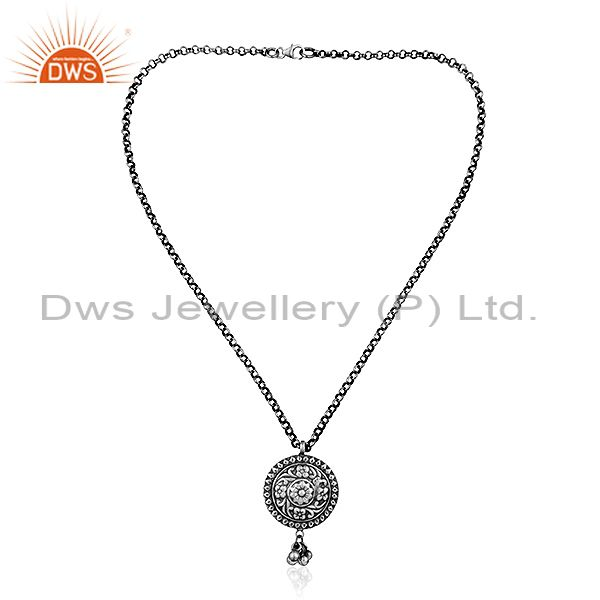 Exporter Indian Tribal Silver Oxidized Designer Chain Pendant Jewelry