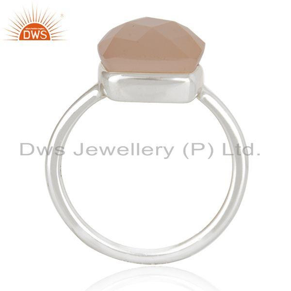 Exporter Rose Chalcedony Gemstone Handmade Sterling Silver Ring Manufacturers