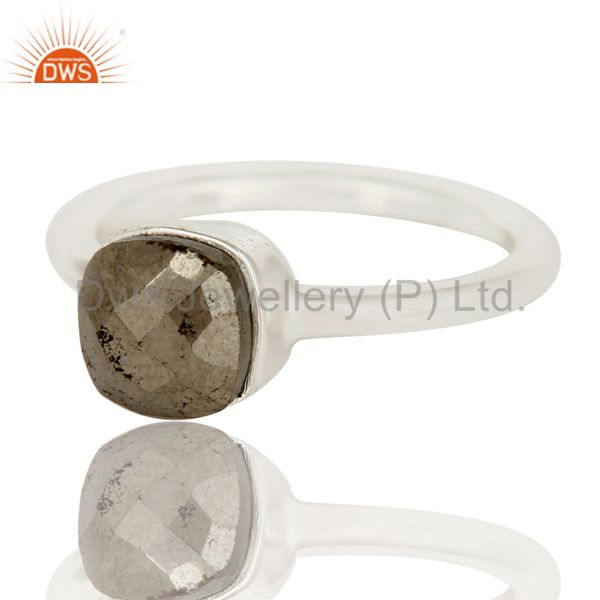Exporter Handmade 925 Solid Sterling Silver Golden Rose Cut Pyrite Stackable Ring