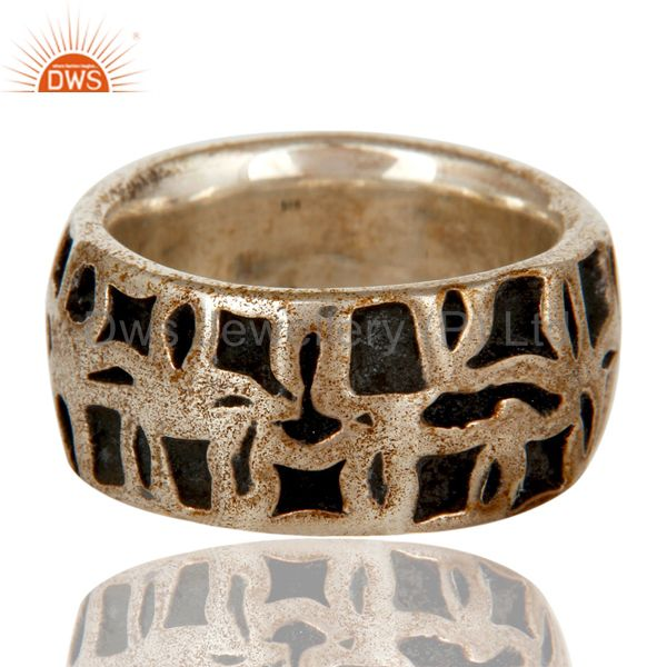 Exporter Solid Sterling Silver Oxidized Mens Ring 925 Silver Jewelry Mens Ring
