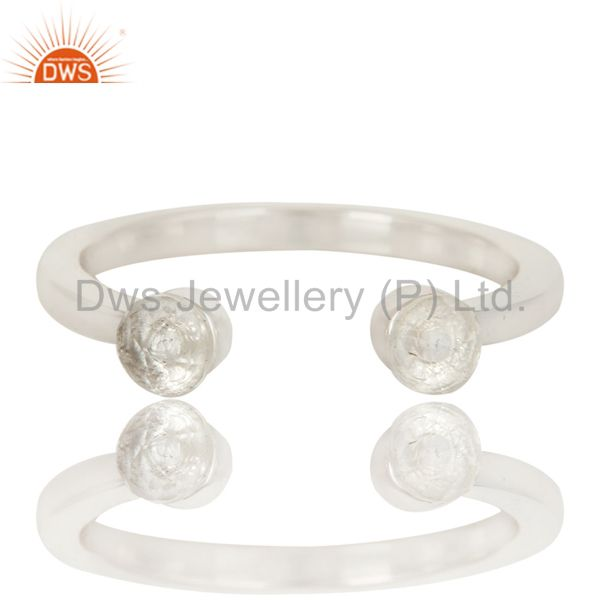 Exporter Handmade Solid Sterling Silver Crystal Quartz Openable Stackable Ring Jewelry