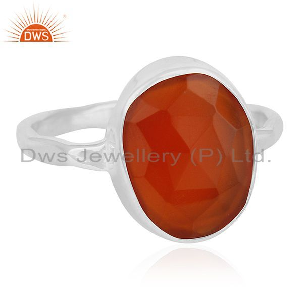 Exporter New Fine Sterling 92.5 Silver Chalcedony Gemstone Handmade Ring Manufacturer