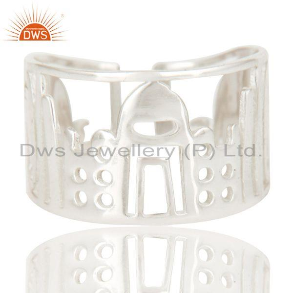 Exporter Solid 925 Sterling Silver Handmade Art Deco Fahion Ring Jewellery