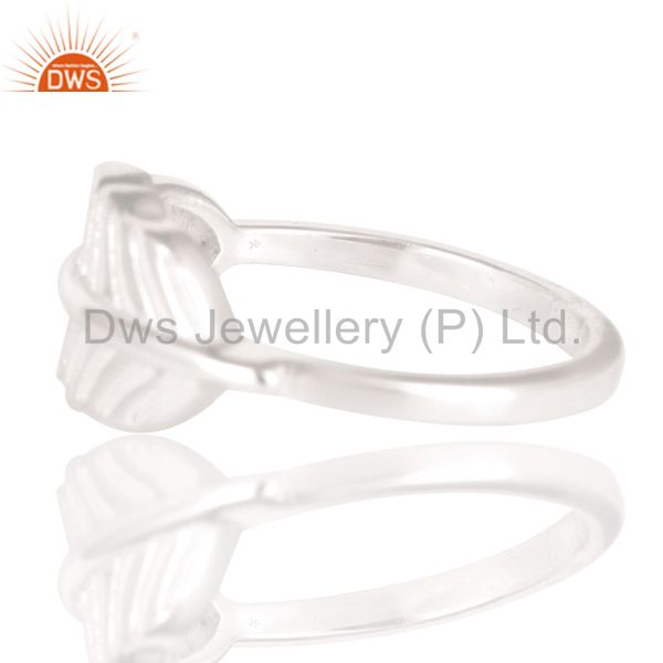 Exporter Solid 925 Sterling Silver Handmade Art Jointing Leaf Design Stackable Ring