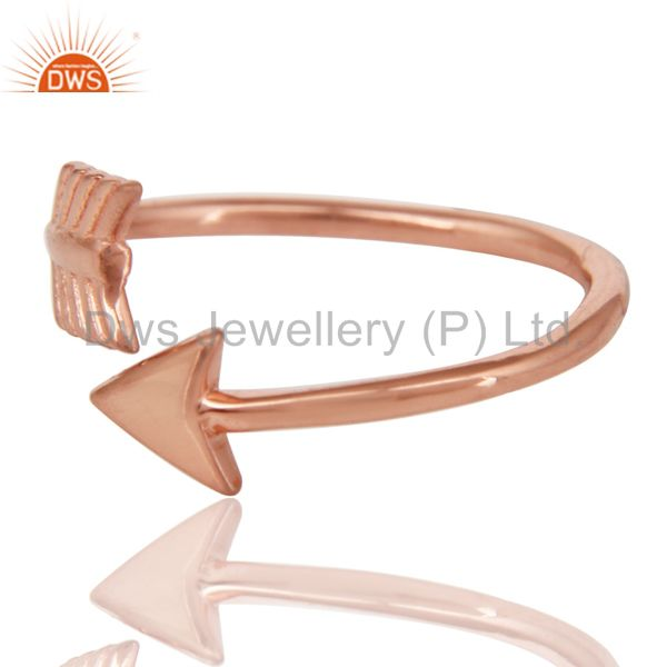 Exporter 14K Rose Gold Plated 925 Sterling Silver Handmade New Fashion Design Ring