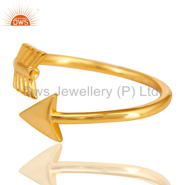 Exporter 14K Yellow Gold Plated 925 Sterling Silver Handmade New Fashion Design Ring