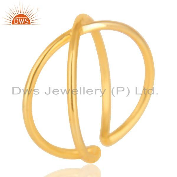Exporter 14K Gold Plated 925 Sterling Silver Handmade Infinity Stylish Stackable Ring