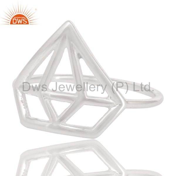 Exporter Solid 925 Sterling Silver Handmade Without Stone Style Stackable Ring