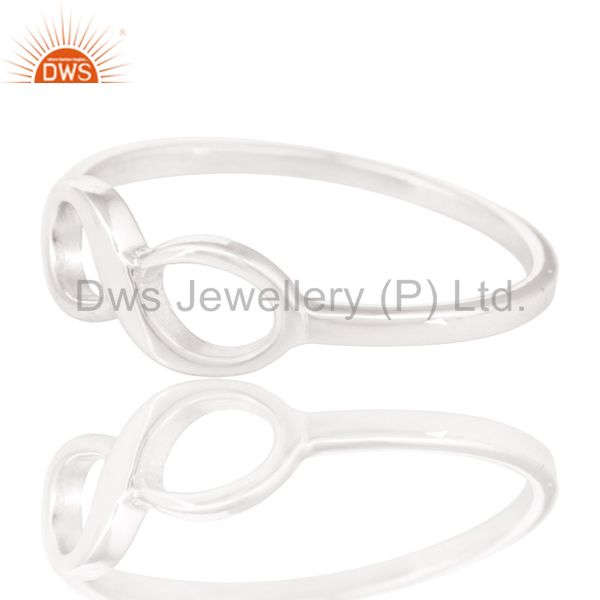 Exporter Solid 925 Sterling Silver Handmade Without Stone Infinity Toe Stackable Ring
