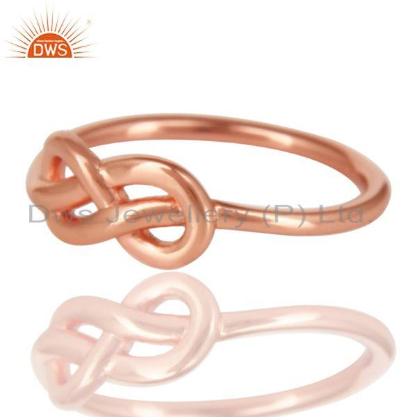 Exporter 14K Rose Gold Plated 925 Sterling Silver Without Stone Beautiful Fashion Ring